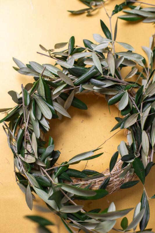 Olivenkranz DIY Schritt für Schritt